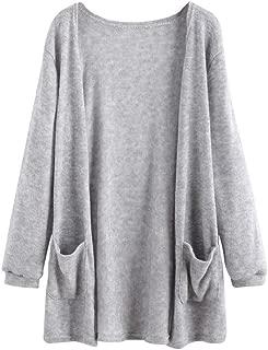 ZOMUSA Women Autumn Long Sleeve Blouse Loose Long Cardigan Coat Jacket