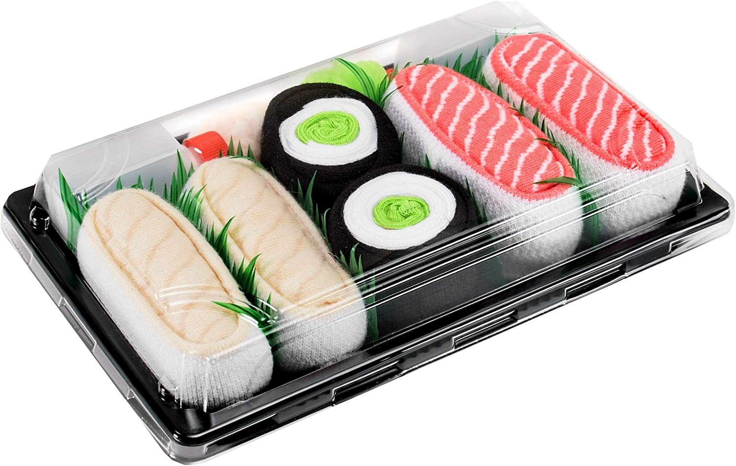 SUSHI SOCKS BOX 3 pairs Butterfish Cucumber Salmon FUNNY GIFT  Made in Europe