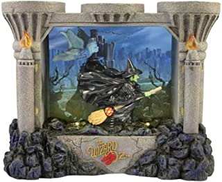WL 5.5 Inch Grey Wizard of Oz Wicked Witch on Broomstick Lighted Box