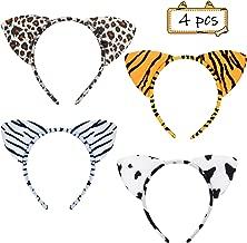 4pcs Diadema Orejas de Animales,SEELOK Cinta de Pelo Orejas de Animales Ni/ñas Diadema Animales para Cosplay Ceremonias de Graduaci/ón Fiestas Tem/áticas de Cumplea/ños Mascaradas