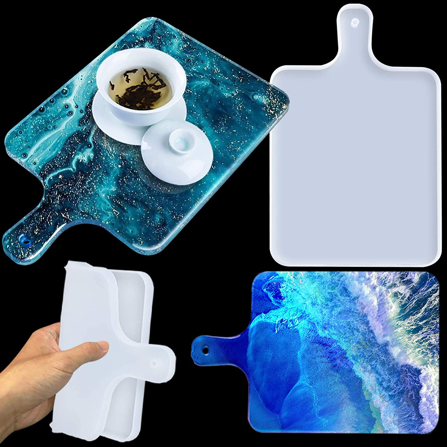Large Silicone Resin Long Beach Mall Mold Tray for Molds free D Casting Epoxy