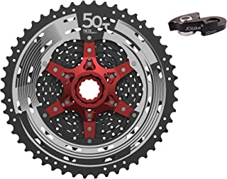 JGbike Sunrace 11 Speed MTB Cassette 11-46T 11-50T Wide Ratio Including 22mm Extender - MS8 MX8 MX80 for Shimano-Type splined freehub Body M7000 M8000 M9000 System