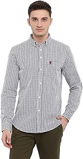 Red Tape Men's Checkered Regular Fit Casual Shirt (RSF8496A_Light Green_XXL)
