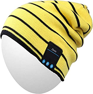 85d7e5d77ac1d2 Qshell Mens Womens Outdoor Bluetooth Music Beanie Hat with Stereo Speaker  Headphones Microphone Hands Free and