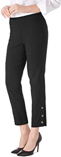 Women's Millennium Stretch Button Cuff Comfort Waist Ankle Pants