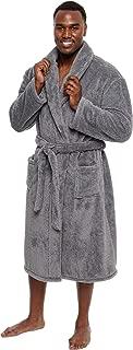 Mens Luxury 400gsm Sleep Robe - Mid Length Plush Big & Tall Bathrobe