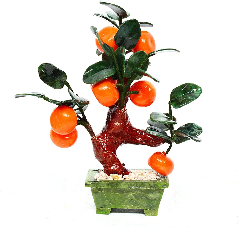 8 Pieces Orange New Free Shipping Milwaukee Mall Tanger Gemstone Tree Feng Bonsai Shui De Chinese