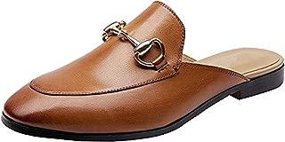 Women's Horsebit-Detailed Leather Loafers (8B, Brown Mule