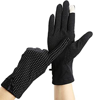 Il Caldo Women's Outdoor Summer Touch Driving Gloves,anti Ultraviolet Cotton Anti-skid