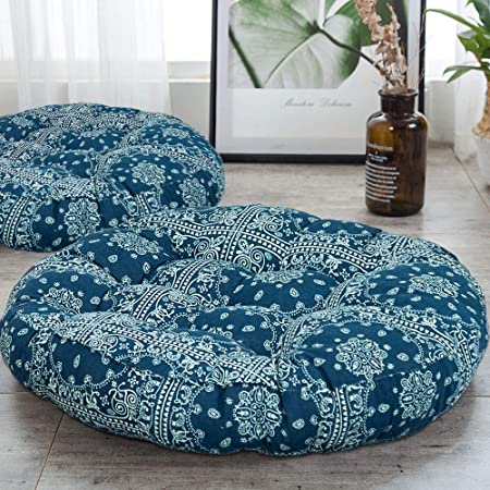 HIGOGOGO Round Faux Fur Floor Cushion Coffee Fluffy Floor Pillow Pouf with Removable Cover Thickness: 8 Soft Shaggy Meditation Cushion Thick Seating for Living Room Bedroom Sofa 24x24