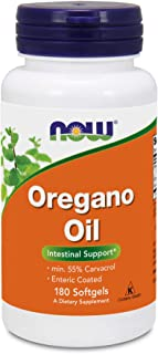 Now Foods Oregano Oil (Minimum 55% Carvacrol) – 181mg, 180 Softgels – High Potency Digestive Support Supplement, Promotes Gut Health, Natural Antibiotic - Kosher - 180 Servings