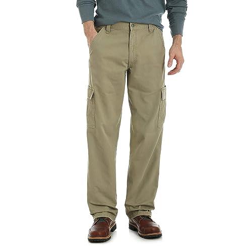 472de733 Wrangler Authentics Men's Big & Tall Classic Twill Relaxed Fit Cargo Pant