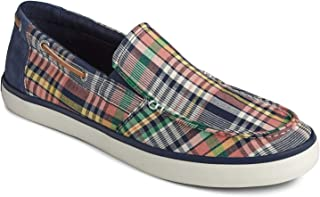 Sperry Men's, Mainsail Slip-On Blue Plaid 12 M