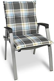 Beautissu Cojín para sillas de Exterior y jardín con Respaldo bajo Sunny GK Gris 100x50x6 cm tumbonas, mecedoras, Asientos cómodo Acolchado gomaespuma Resistente a Rayos UV