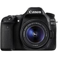 Canon EOS 80D Digital SLR Kit with EF-S 18-55mm f/3.5-5.6 Image Stabilization STM Lens - Black...