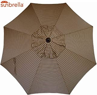 Bayside21 Umbrella Canopy Replacement 8 Ribs 9 ft Outdoor Patio Umbrella Sunbrella Replacement Umbrella Canopy 9ft Market Umbrella Replacement Canopy 8 Ribs Non Faded (Hardwood Stripe)