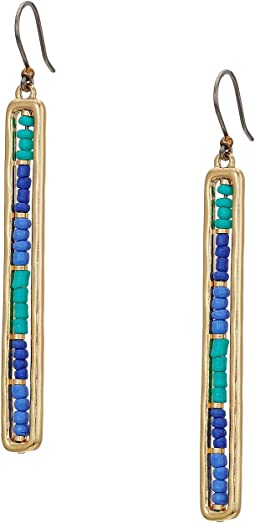 Lucky Brand Beaded Linear Earrings