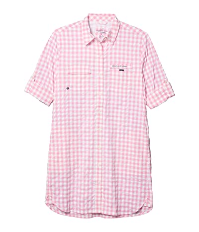 Vineyard Vines Gingham Harbor Shirt Cover-Up (Cotton Candy) Women
