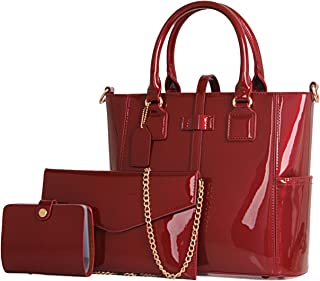 Best red patent leather shoulder bag Reviews