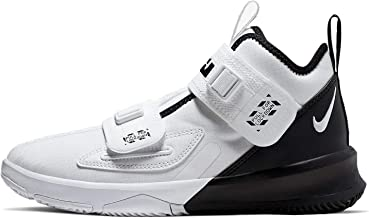 Nike Kids' Grade School Lebron Soldier 13 Basketball Shoes (4.5, White/Black)