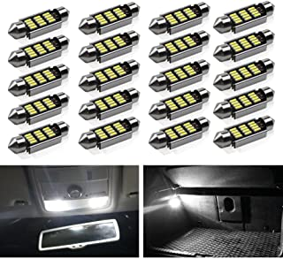 39mm Festoon LED Bulbs ,Viesyled Super Bright LED Interior Car Lights White 12-SMD 4014 Chipset Canbus No Error Car Interior Dome Map License Plate Dash Board Cargo Trunk Door Lights Pack of 20