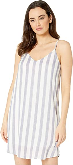 Mya Spaghetti Strap Pocketed Striped Dress