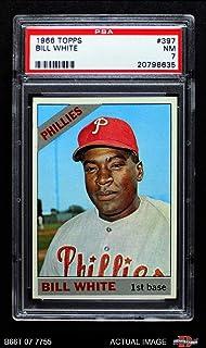 1966 Topps # 397 Bill White Philadelphia Phillies (Baseball Card) PSA 7 - NM Phillies