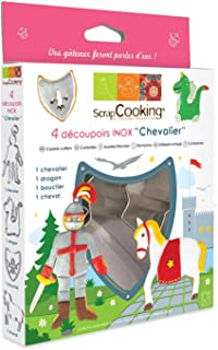 ScrapCooking Knight Cutters, Stainless Steel, Box of 4