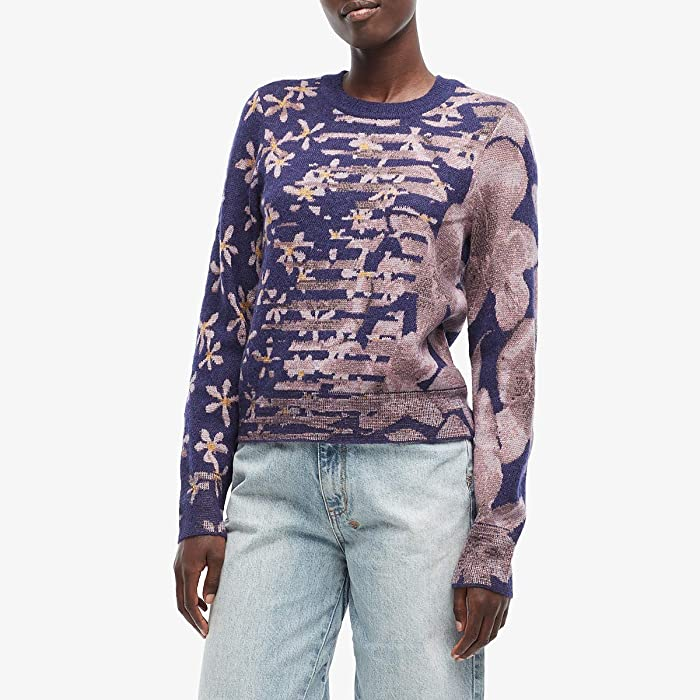 rag and bone  Alamo Crew (Purple Night) Womens Clothing