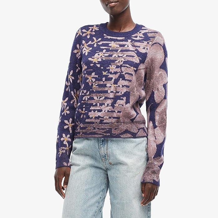 rag and bone  Alamo Crew (Purple Night) Womens Clothing