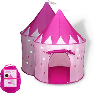 FoxPrint Princess Castle Play Tent with Glow in The Dark Sta
