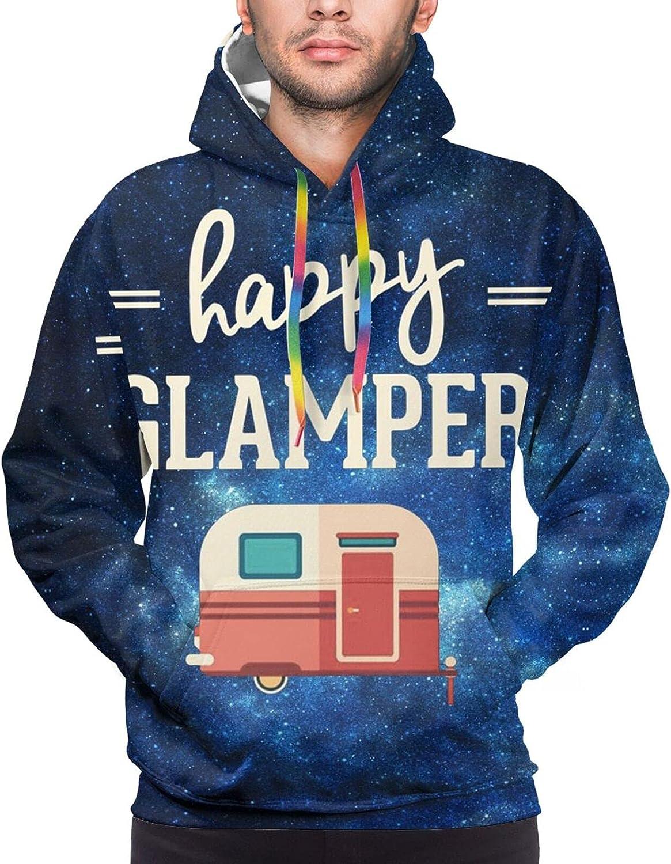Hoodie For Teens Boys Girls Happy Camper Pullover Hooded Sports Sweatshirt