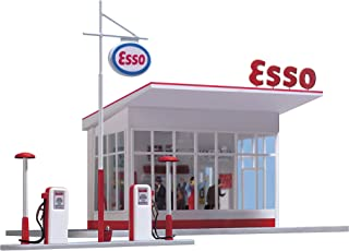 Busch 1005 Gas Station 1950s ESSO HO Scale Building Kit
