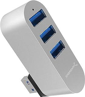 Sabrent Hub a 3 Porte USB 3.0 in Alluminio Ruotabile Premium [ruotabile a 90°/180°] (HB-R3MC)