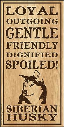 INC Siberian SJT61968 SJT ENTERPRISES Live here Wood Sign Plaque 5 x 10 A Spoiled Rotten Husky