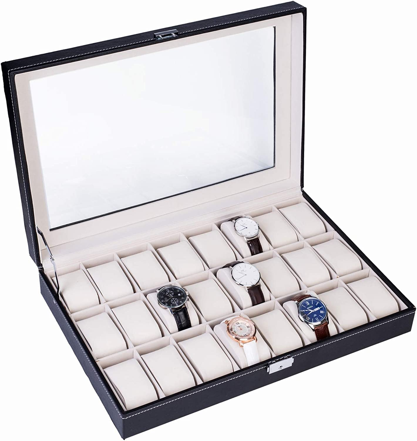 IFR NEW Limited time for free shipping before selling ☆ Watch Cabinets Cases 24 Sty Opening Compartments Top-level
