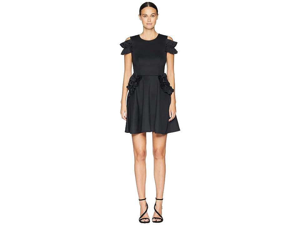 Ted Baker Deneese Ruffle Detail Dress (Black) Women