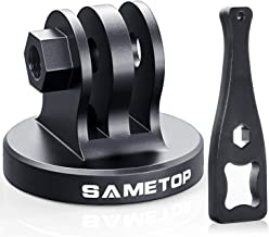 Sametop Aluminum Tripod Mount Adapter Compatible with Gopro Hero 8, 7, 6, 5, 4, Session, 3+, 3, 2, 1, Hero (2018), Fusion, DJI Osmo Action Cameras