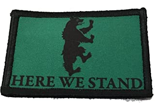 "Game of Thrones House Mormont Sigil Morale Patch Military Tactical 2x3"" Hook and Loop Made in The USA"