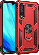 Huawei p30 case Protective Cover 360 Degree Ring with Holder Kickstand Hard Shell for Magnetic Car Mount