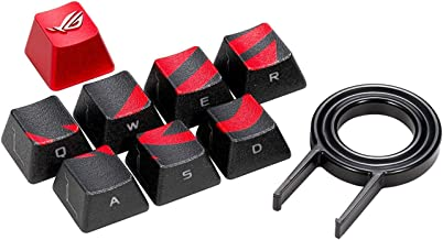 ROG Gaming Keycap Set with Premium Textured Side-Lit Design for FPS/MOBA Keys, Compatible with Cherry MX Switches