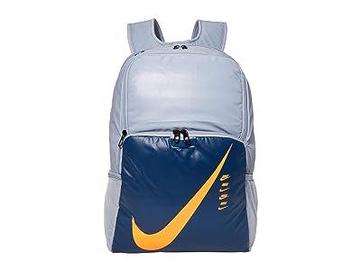 Nike Brasilia XL Backpack 9.0 (Obsidian Mist/Valerian Blue/Total Orange) Backpack Bags