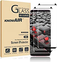 KNOWAIR Galaxy S8 Screen Protector,Full Coverage Tempered Glass[2 Pack][3D Curved][Solution for Ultrasonic Fingerprint]Tempered Glass Screen Protector Suitable for Galaxy S8