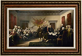 Eliteart-The Declaration of Independence by John Trumbull Oil Painting Reproduction Giclee Wall Art Canvas Prints-Framed Size:26