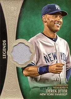 2019 Topps Tier One Legends Relics #T1LR-DJ Derek Jeter Game Worn Yankees Jersey Baseball Card - Only 175 made!