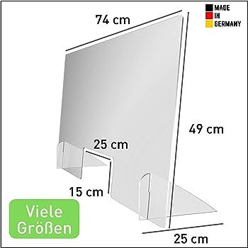 Made in Germany Hygiene-Wand//Spuckschutzwand f/ür Theken und Tresen 100 x 70 cm