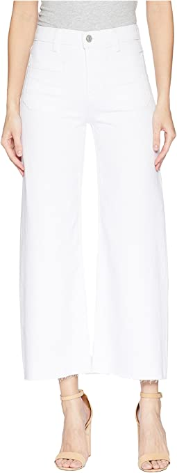 Hudson Holly High-Rise Wide Leg Crop w/ Released Hem in White