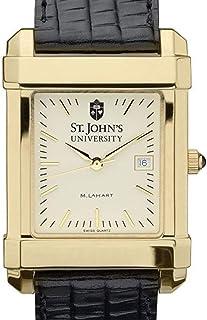 M. LA HART St. John's Men's Gold Quad with Leather Strap