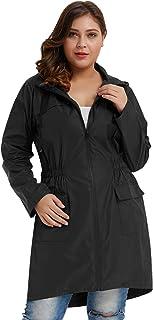 Hanna Nikole Women Plus Size Lightweight Raincoat Travel Hoodie Rain Jacket
