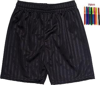 ND Sports School Shadow Stripe PE Shorts for 9-10 Years, Black